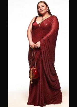Captivating Maroon Sequence Work Saree