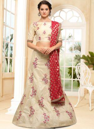 Chiku Silk Party Wear Lehenga Choli