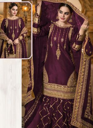 Classy Embroidered Salwar Suit With Beautiful Dupatta