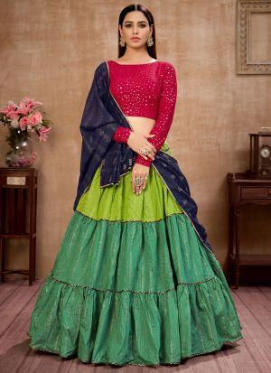 Colourful Cotton Sequence Work Lehenga Choli
