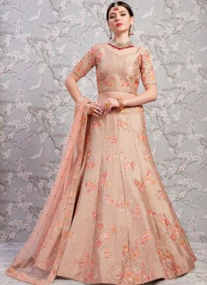 Elegant Collection Banglori Silk Light Brown Designer Lehenga Choli