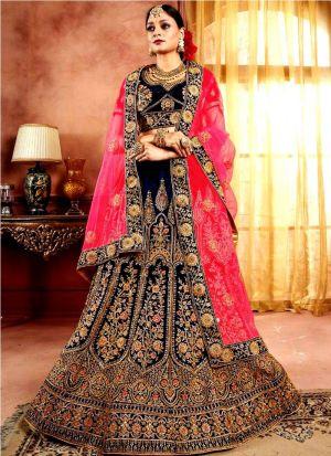 Elegant Collection Navy Lehenga Choli For Indian Bridal