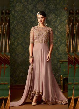 Elegant Net Embroidery Salwar Suit