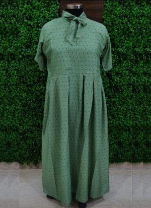 Everyday Wear Causal Sea Green Heavy Crepe Kurti For Women