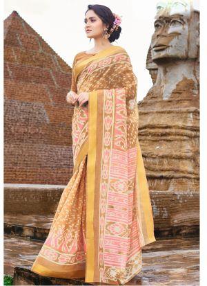 Exceptional Multi Color Cotton Saree