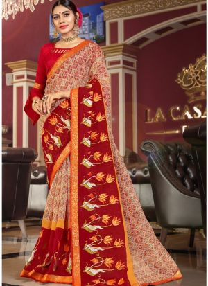 Exclusive Multi Color Wedding Wear Kota Saree With Blouse