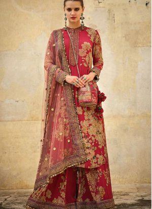 Eye Catching New Launch Red Moti Work Wedding Wear Salwasr Suit