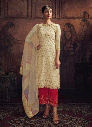 Festive Wear Salwar Suit With Diamond Work