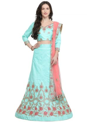 Firozi Designer Exclusive Bridal Lehenga Choli