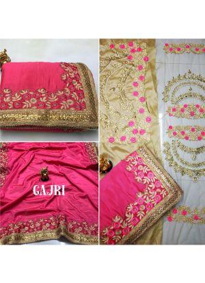 Rangoli Crepe Silk Heavy Embroidery Designer Bridal Saree Diwali collections