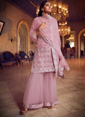 Gorgeous Baby Pink Party Wear Salwar Suit