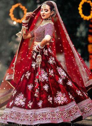 Gorgeous Bridal Lehenga Choli In Maroon