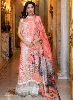 Gorgeous Embroidered Faux Georgette Salwar Suit