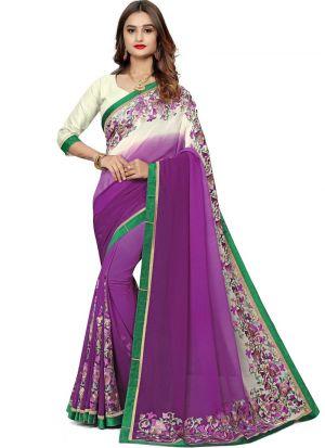 Gorgeous Multi Color Bemberg Beautiful Saree