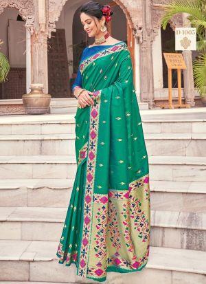 Green Pure Silk Traditional Saree