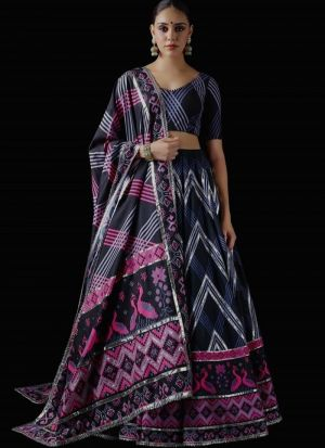 Indian Style Multi Italian Silk Digital Print Lehenga Choli