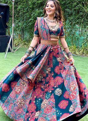 Isha Multani Digital Print Wedding Wear Lehenga Choli