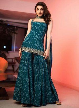 Kajal Aggarwal Rama Georgette Suit