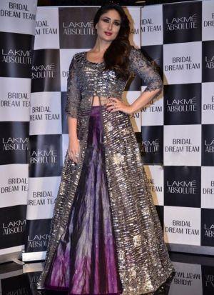 Kareena Kapoor Grey Taffeta Silk Lehenga Choli