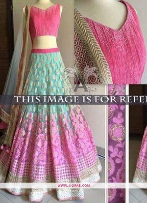 KT 2023 Light Pink Pista Party Multy Work Wedding Lehenga Choli