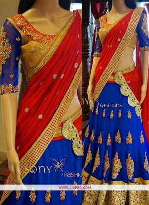 KT 2050 Beautiful Blue Party Multy Work Wedding Lehenga Choli