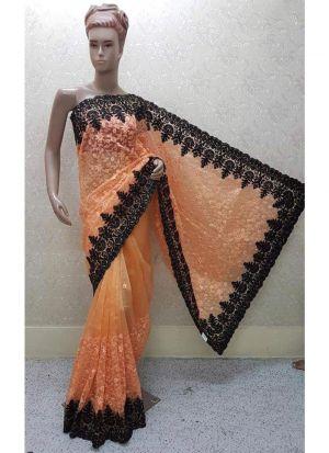 L Orange Launching New Version Blockbuster Superhit Design Heavy Net Saree
