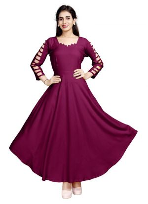 Ladies Flavor New Arrival Pure Heavy Rayon Pink Kurti