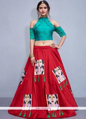 Latest Design Wedding Wear Red Lehenga Choli For Sangeet
