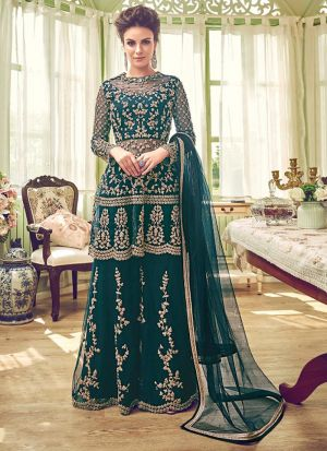 Latest Heavy Net Embroidered Salwar Suit