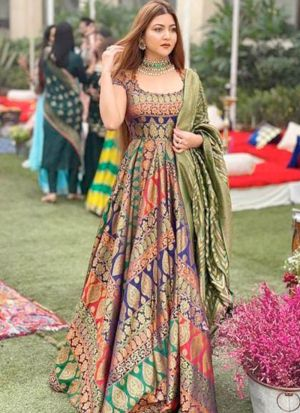 Latest Launched Multi Color Digital Printed Gown