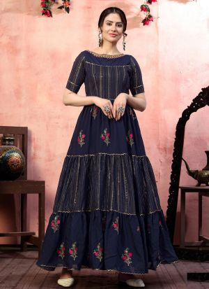 Latest Launched Navy Anarkali Gown