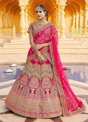 Latest Launched Pink Bridal Lehenga