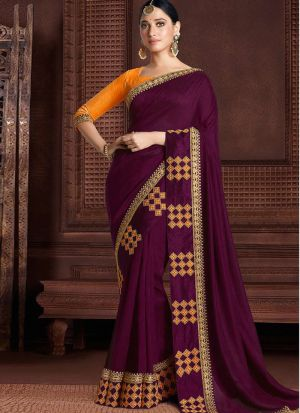 Latest Maroon Rangoli Silk Bollywood Saree
