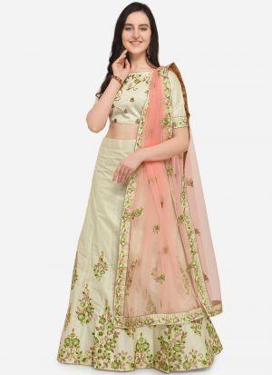 Lemon Silk Indian Wedding Lehenga Choli