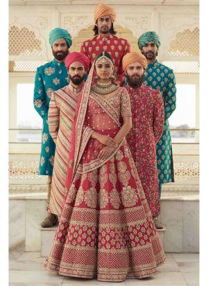 Maroon Banglori Satin Silk Indian Wedding Lehenga Choli With Mono Net Dupatta