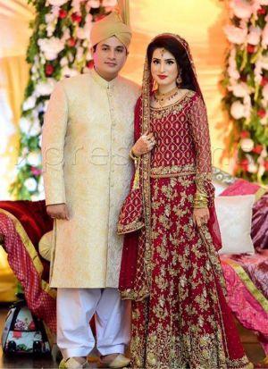 Maroon Silky Silk Bridal Lehenga Choli With Chinon Silk Dupatta