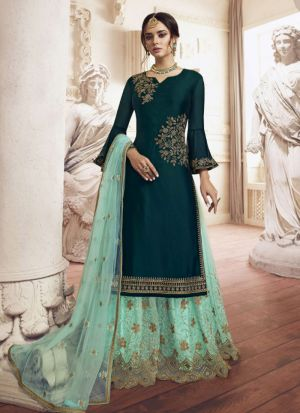 Modern Rangoli Embroidered Salwar Suit