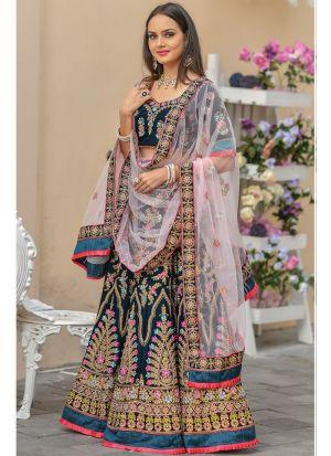 Morpich 9000 Velvet Traditional Lehenga Choli For Wedding