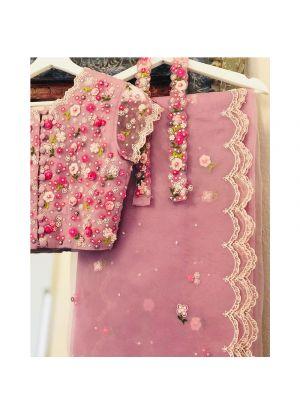 Most Demanding Light Pink Net Saree