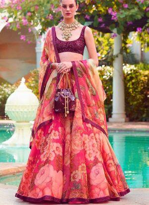 Most Demanding Red Festive Wear Lehenga Choli