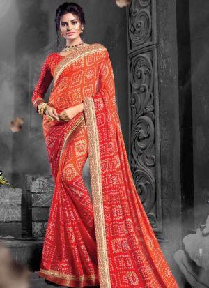 Multi Color Chiffon Designer Sarees For Wedding