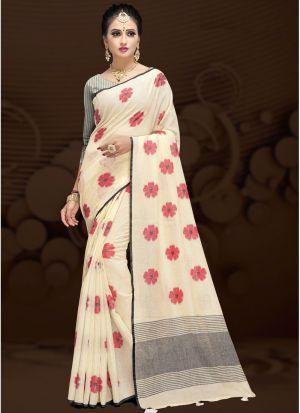 Multi Color Cotton Silk Fancy Designer Traditional Saree