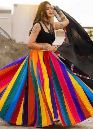 Multi Color Digital Printed Lehenga Choli