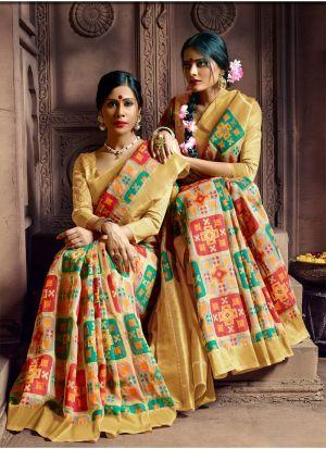 Multi Color Pure Banarasi Silk Most Beautiful Saree Collection