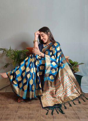 Multi Color Silk Fashionable Saree