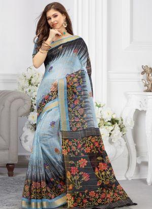 Multi Color South Indian Wedding Cotton Saree