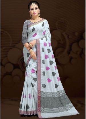 Multi Colour Cotton Silk Fancy Designer Traditional Saree