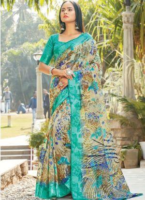 Multi Colour South Indian Wedding Cotton Saree