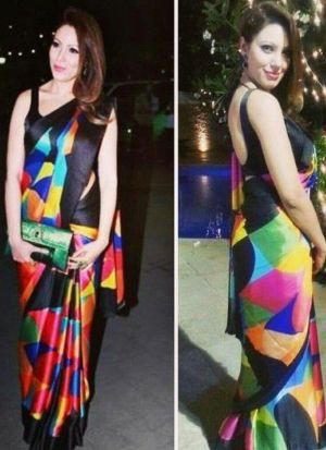 Munmun Dutta Multi Color Printed Saree