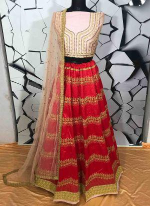 Navratri Festive Special Red Heavy Embroidery Designer Lehenga Choli